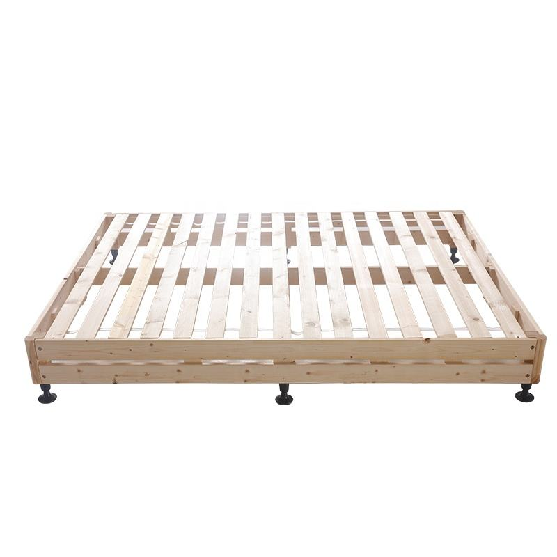 knock down packing hotel bed base good quality pine wood bed frame