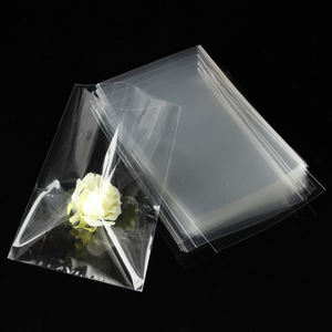 New Custom Design Cellophane Clear Transparent Resealable Plastic Bag#