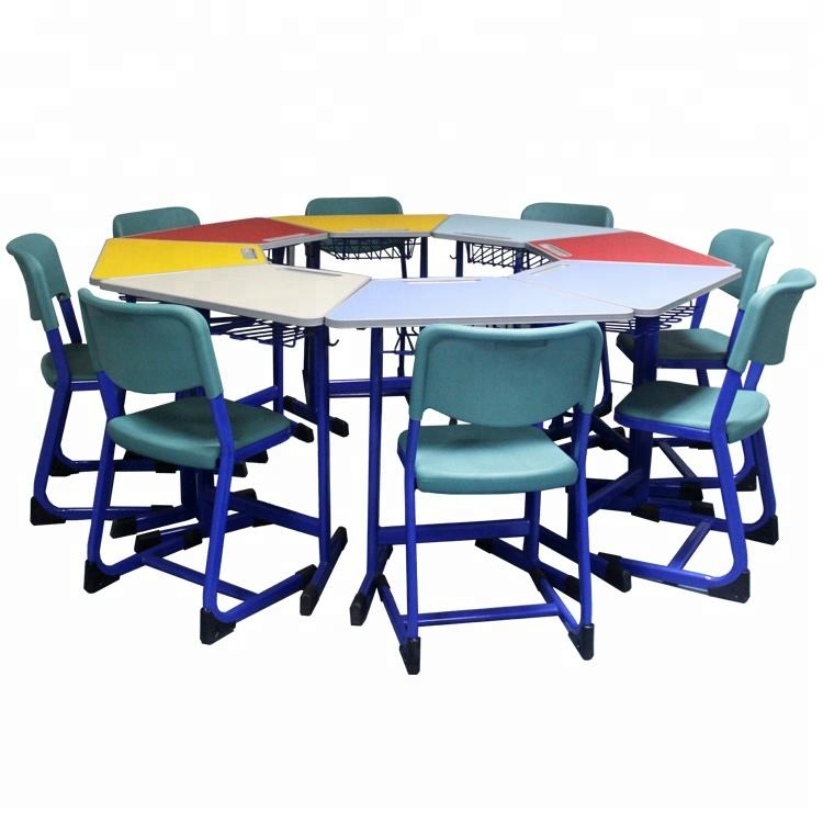 colorful hot seeling desk and chair smart Classroom Furniture