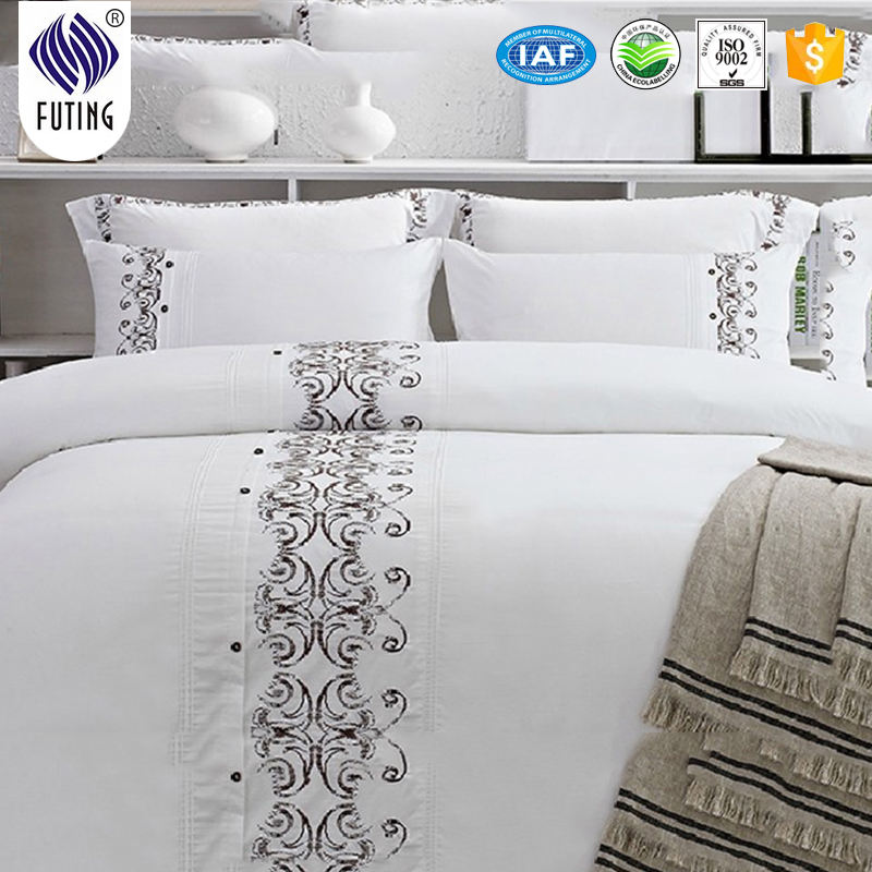 Wholesale Luxury 5 star hotel embroider bed linen made in China bed linen sheets