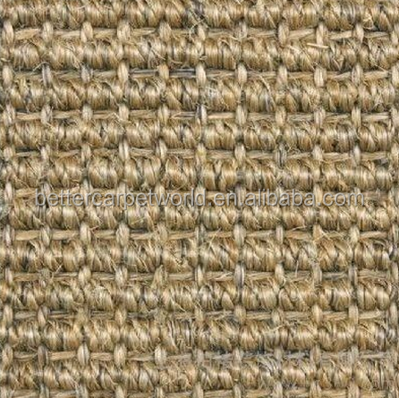 Pure Koffie Latex Backing Deur Mat Commerciële Sisal Wol Patroon Tapijt
