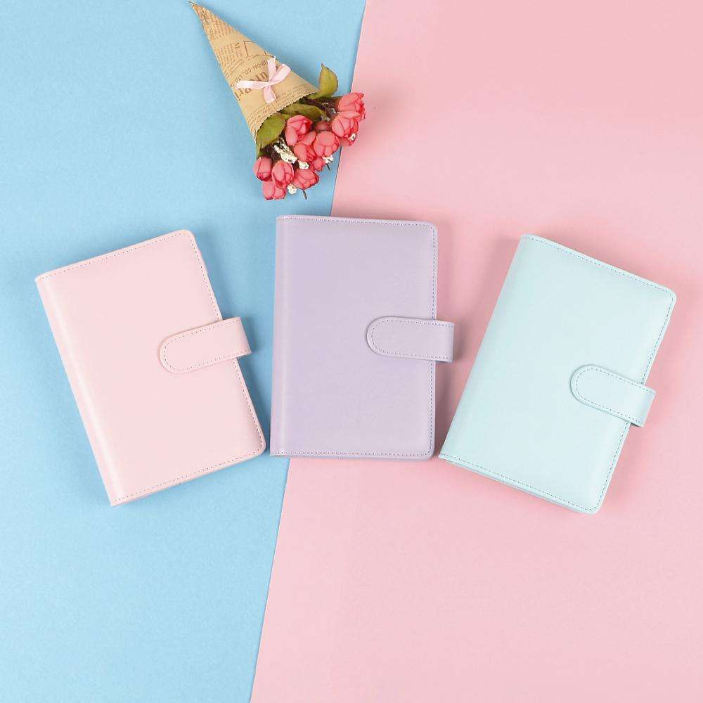 Macaron color 6 ring binder notebook cover
