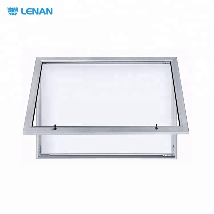 Outdoor aluminum frame wall mount lockable fabric notice board enclosed bulletin board with glass door