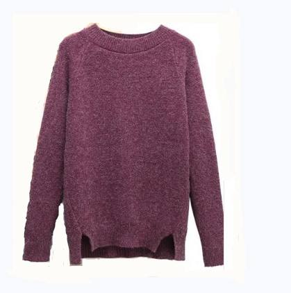 Wholesale 2018 hot sale pullover knitting woolen design sweater for ladies/women