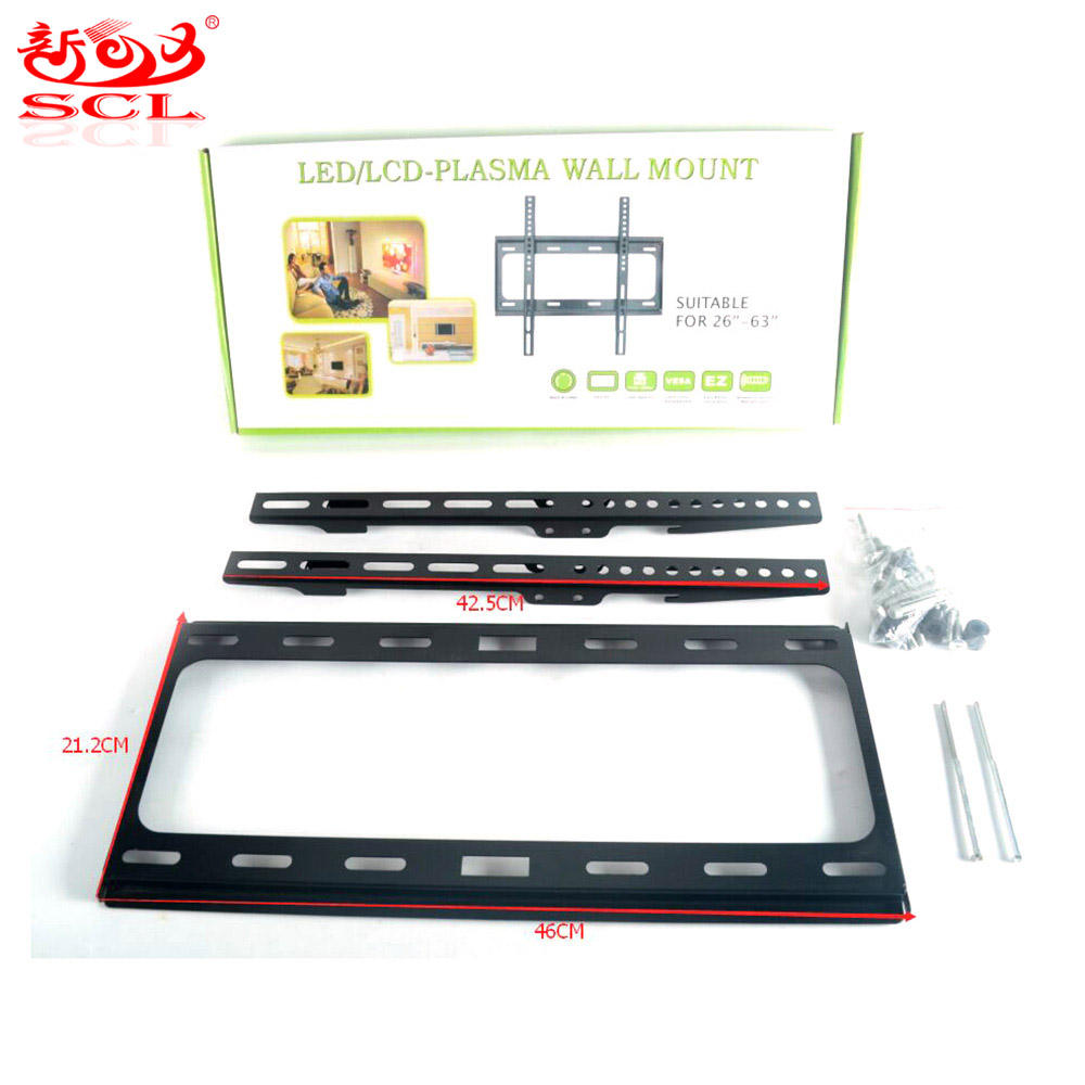 Sunchonglic factory price high quality TV bracket 110lbs fit for 26''-63'' flat panel TV LED LCD PLASMA TV Wall Mount bracket