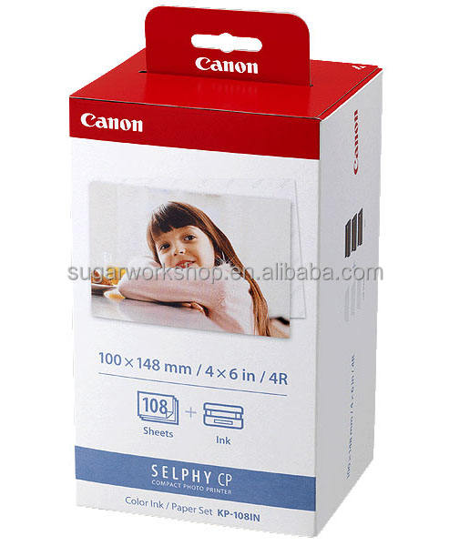 Compatible KP-108IN-4R pour <span class=keywords><strong>canon</strong></span> selphy cp feuilles papier photo