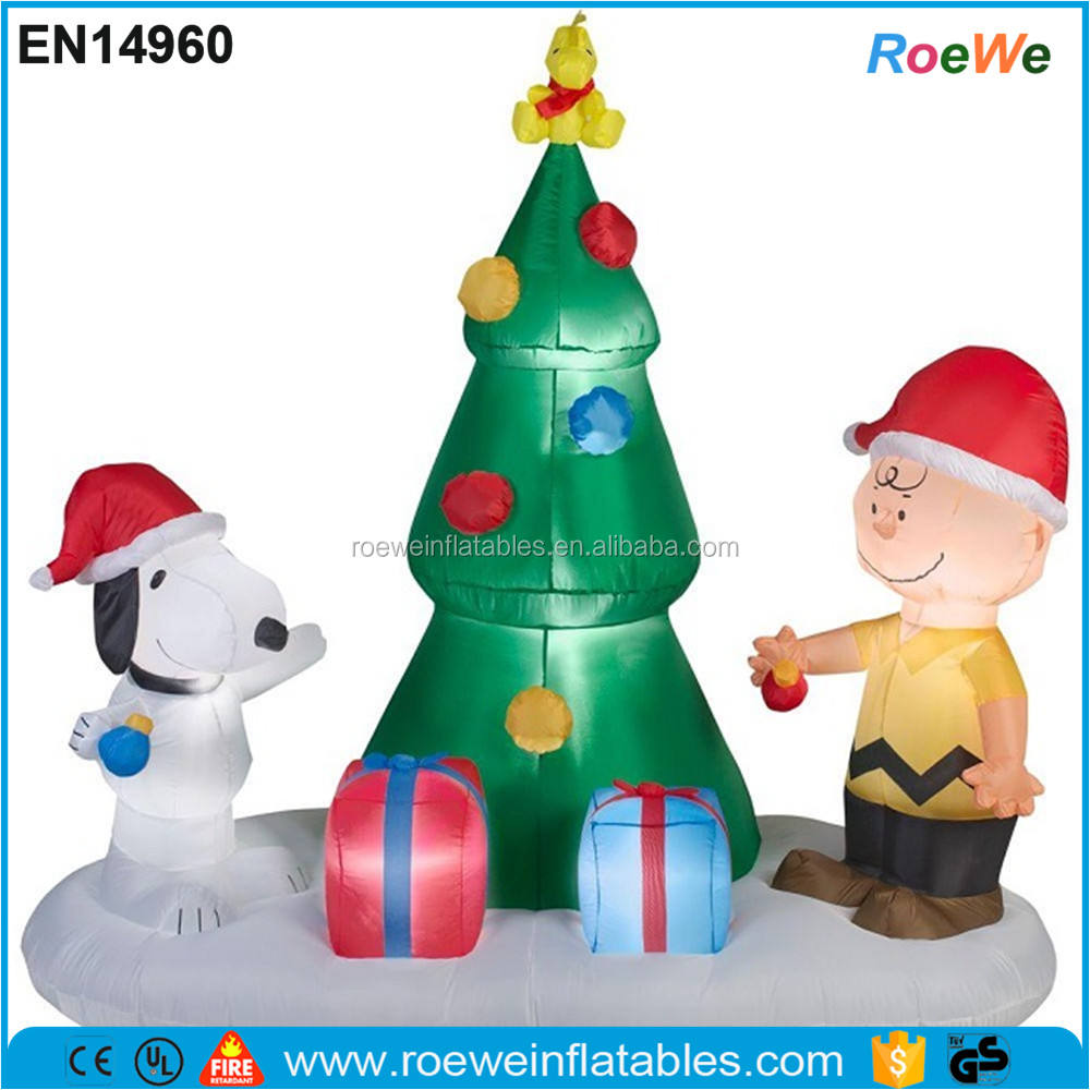 Snoopy Peanuts Charlie Brown Pohon Natal Airblown <span class=keywords><strong>Tiup</strong></span>