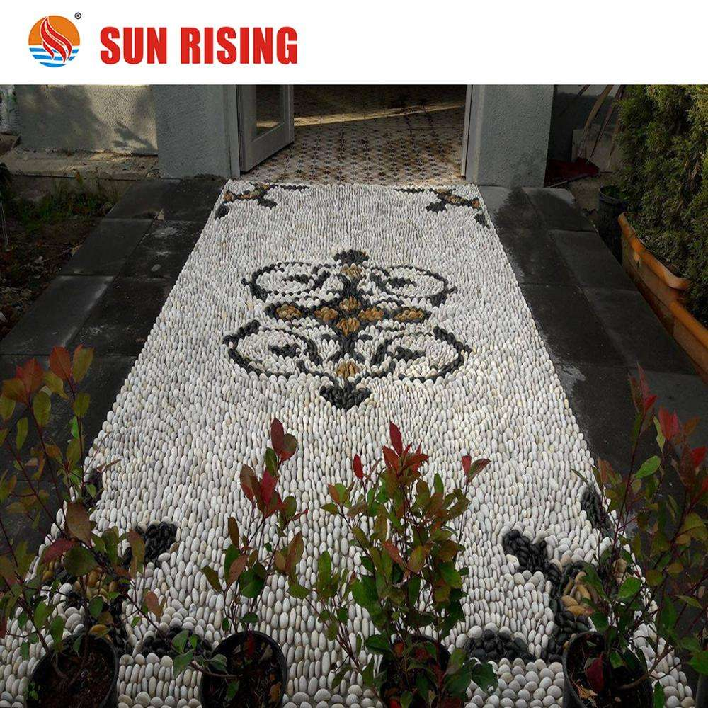 New Design River Pebble Mosaic Pattern for Garden and Path