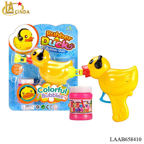 New product toys big yellow duck manual bubble gun,cheap toys mini bubble gun