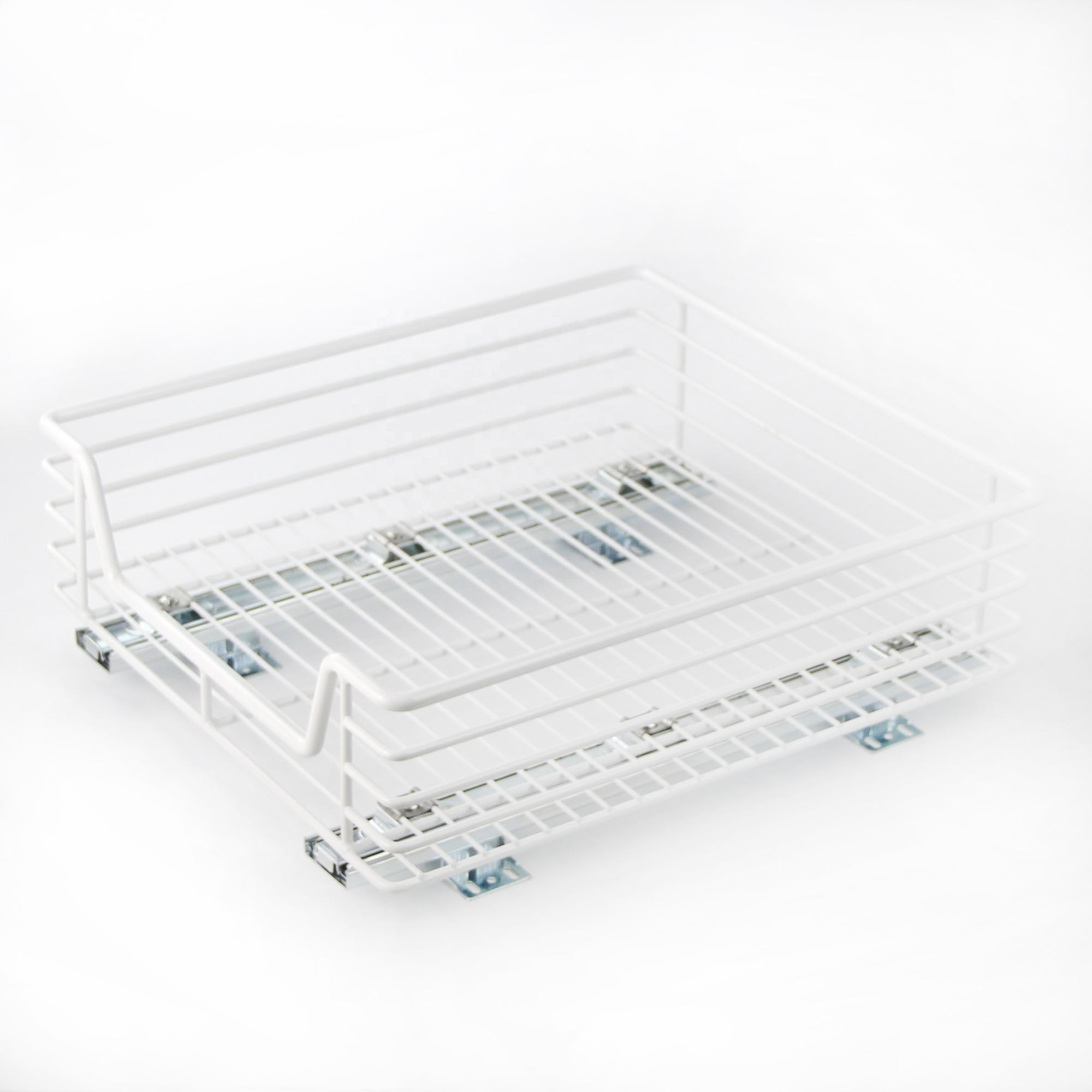 Pull Out Cabinet Basket Pull Out Steel Wire Sliding Cabinet Basket
