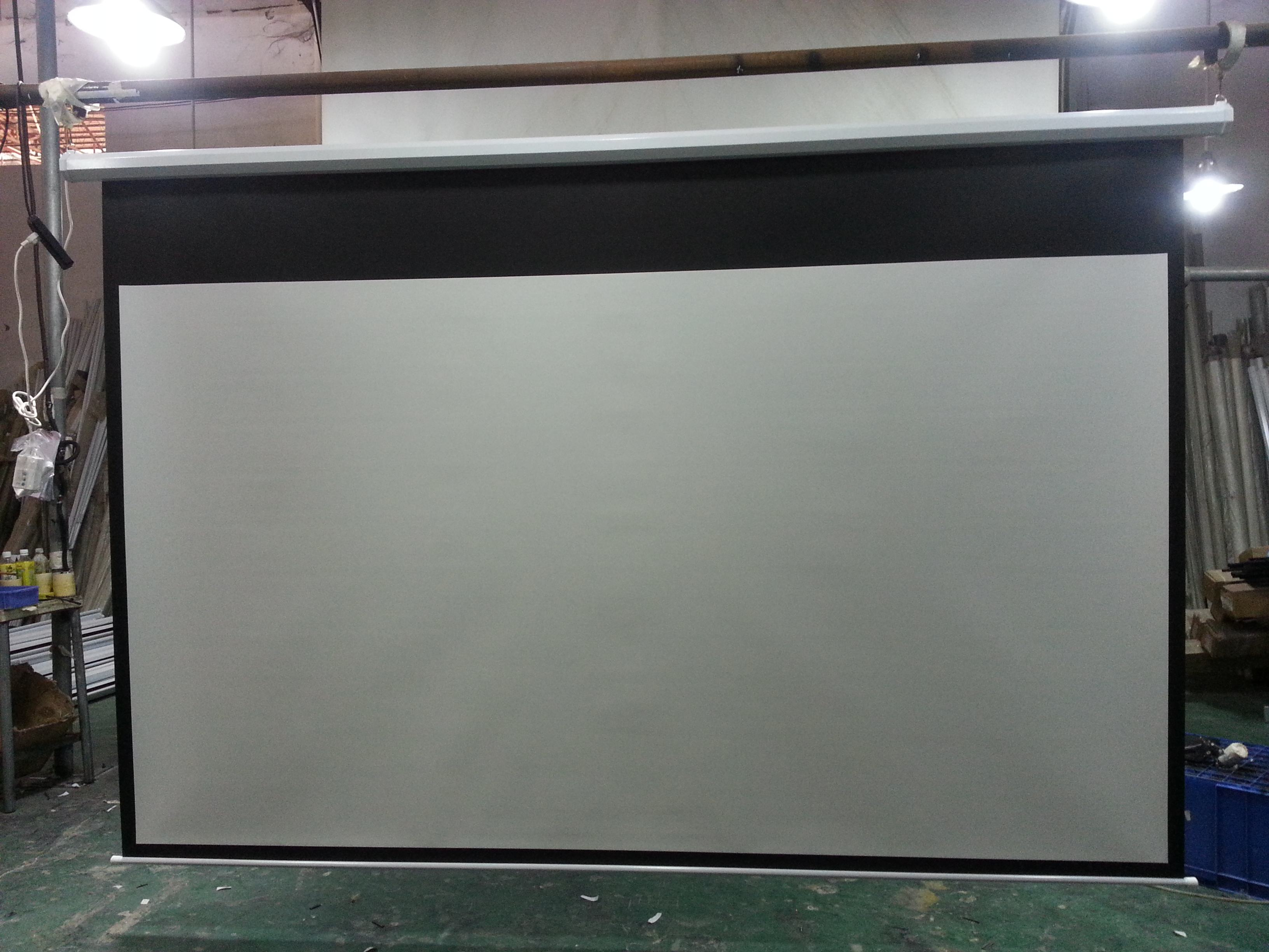 motorized electric projector screen matte white projection screen