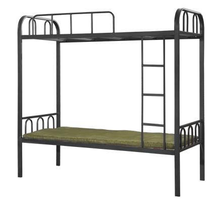 Different color dormitory furniture 2 level iron frame 'adult military bunk bed for sale