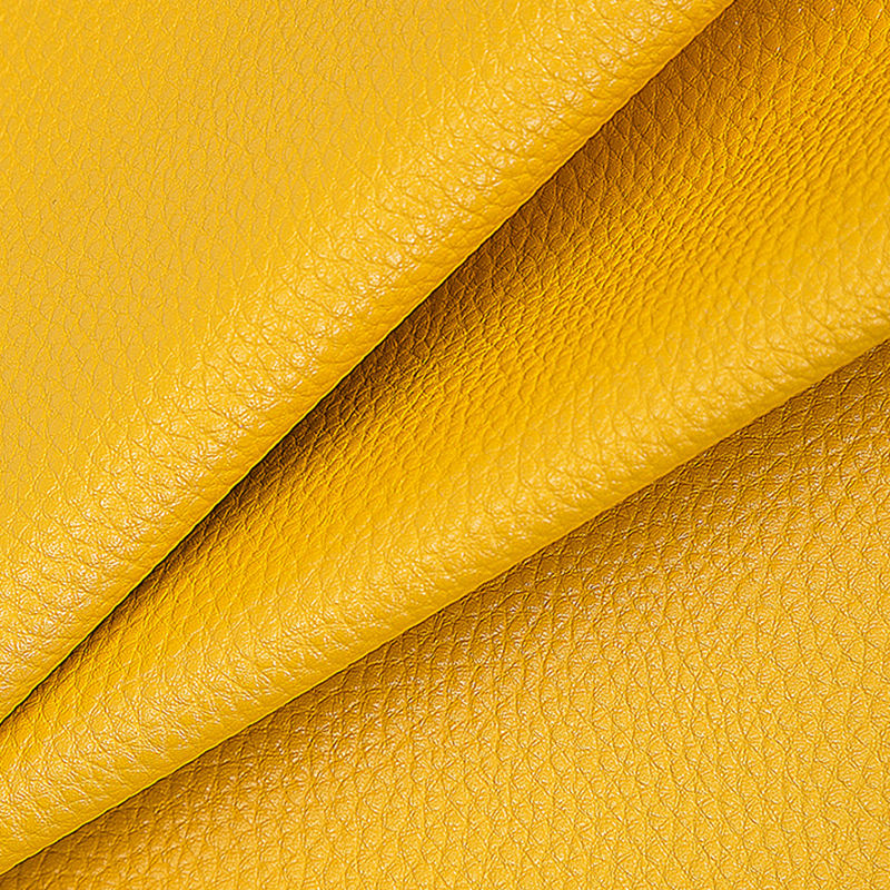 Recycled Yellow Faux Soft Cow Split Suede Goat Leather Vegan Artificial Synthetic Pvc Pu Leather Fabric For Shoes