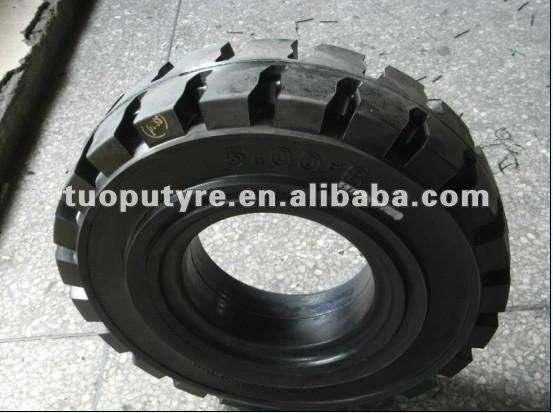 Montagem rápida empilhadeira pneus sólidos 6.50-16,650-16