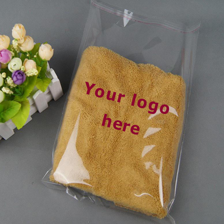 Wholesale cheap clear self adhesive seal clothes opp packing plastic bag /clear poly t-shirt bag