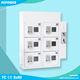 Cheap commercial phone charging locker wall mounted 6 slots coin operated cell phone chargers