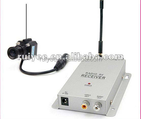 RY-203C 1.2G Mini IR Color Night Vision Hidden Pinhole Wireless Camera and Receiver