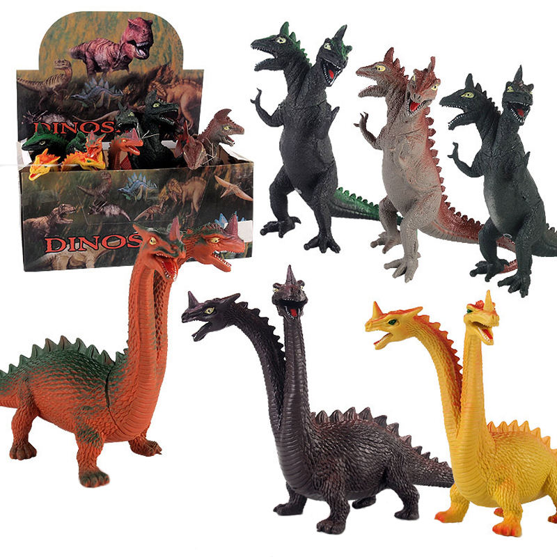 Hot Sale Vinyl Two Head Rex Artificial Dinosaurs toys for kids