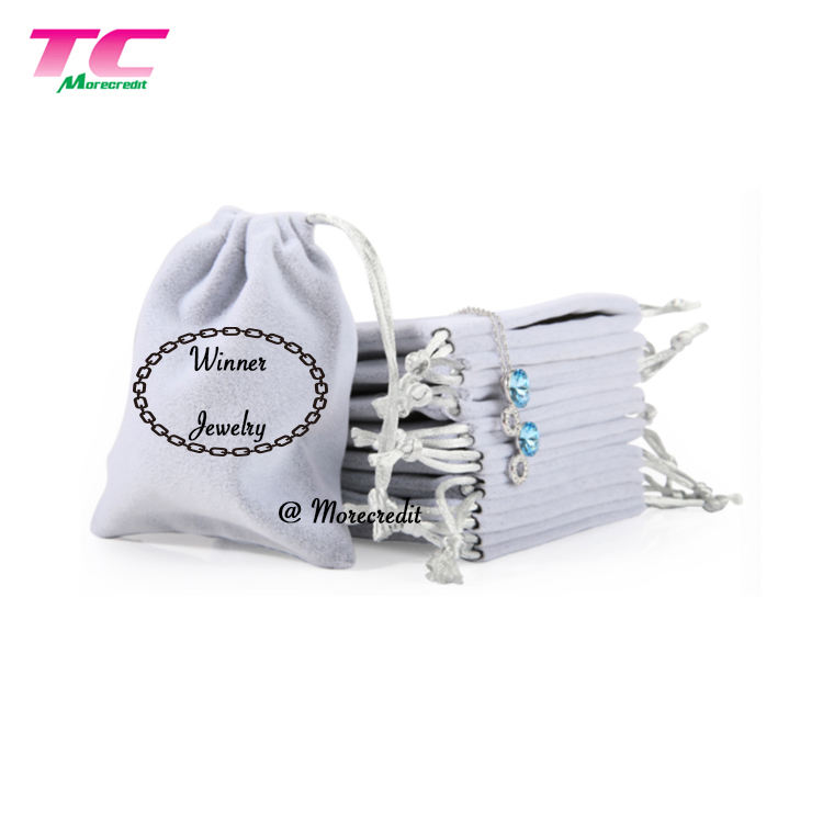 Jewelry Gift Packaging Drawstring Velour Bags Wholesale Jewelry Velveteen Bag Pouch For Travel Storage