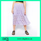 latest korean style midi skirts in stretch lace female skirts with elastic band elegant women clothes factory in china