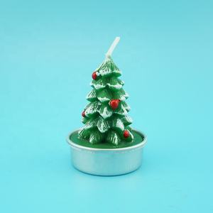 Xmas Tree Shape Flameless Candles, Handmade Candle