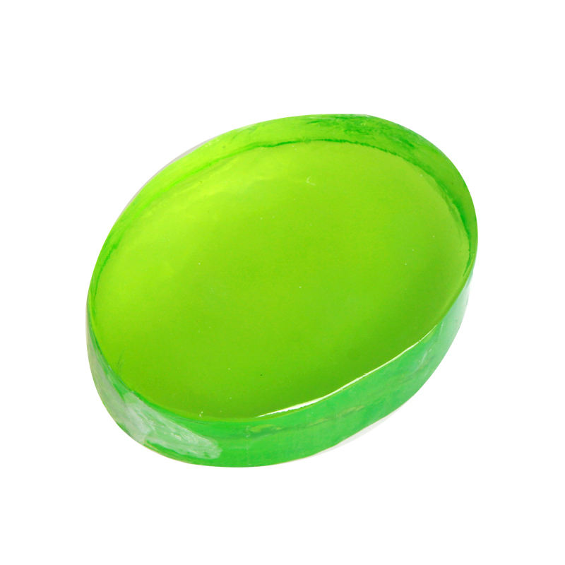 skin care face and body 100g oval shaped green bar soap