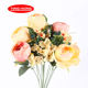 Silk big artificial 12 heads lotus colorful flower bunch for wholesale