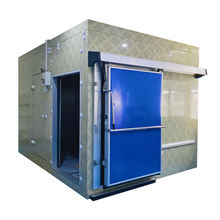 blast freezer cold storage room for meat and fish/ refrigerator camera