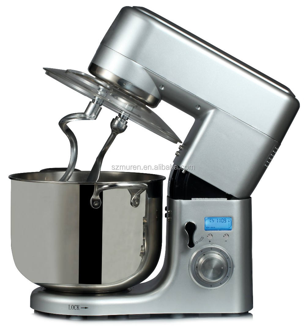 1500W powerful 10L food mixer machine with digital 220-240V double dough hooks