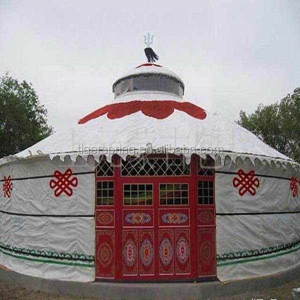 Luxury steel waterproof dome mongolian yurt