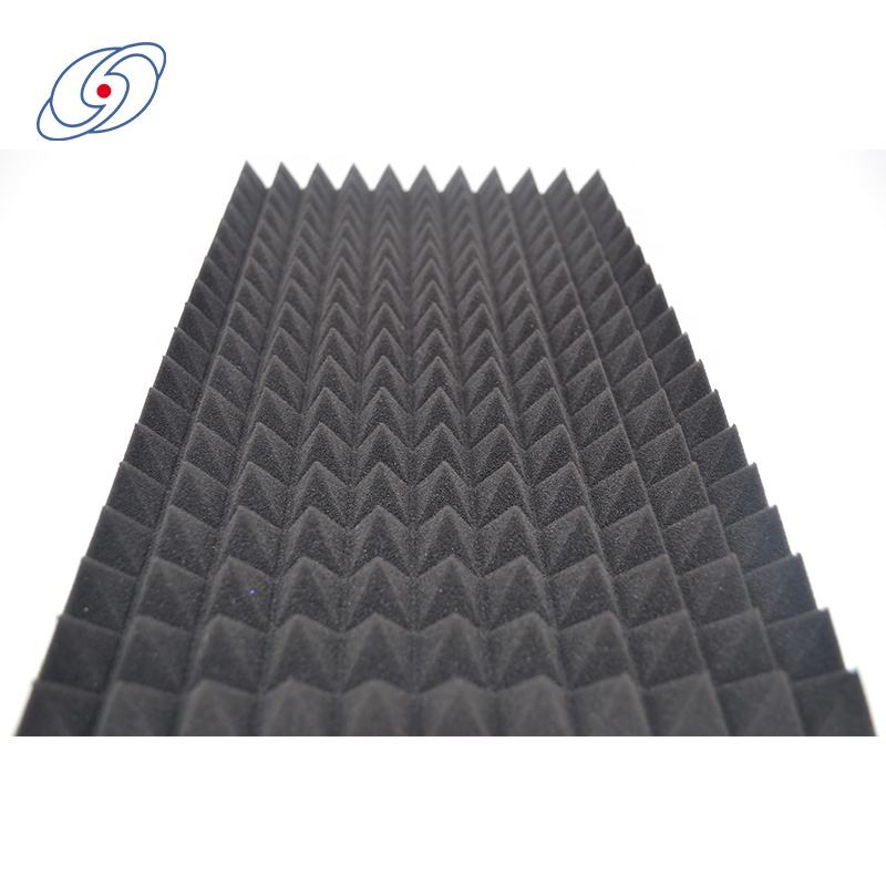 China factory wholesale Black 100% Polyurethane wall soundproof acoustic foam