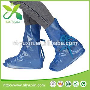 2014 venta caliente antideslizante azul cubiertas del zapato para el invierno botas