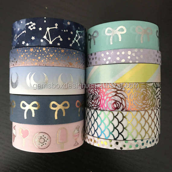 decorative planner supplies custom foil washi paper tape