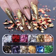 Hot Sale Mixed Gold Silver Foil Nail Art Foil Stickers Decoration