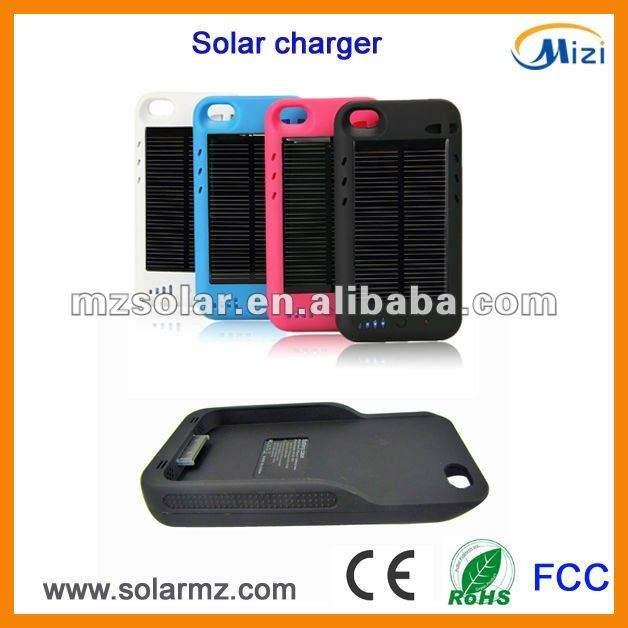2400 mAh USB Caricatore Esterno di Energia solare per il iphone 4 4 S Batteria Powered Caso