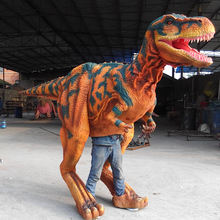 3D waterproof high-tech animated walking mechanical dinosaur costume for outdoor attraction / perfomance