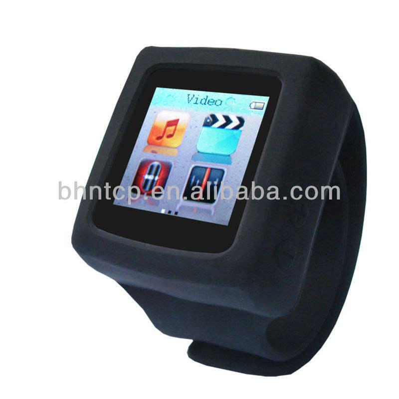 ギフトデジタル時計mp4/mp3腕時計2gbメモリを搭載したfmラジオ