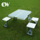 chinese products online korean 8ft bbq foldable outdoor aluminum portable folding camping wood table