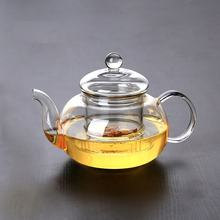 New Year Mini glass tea infuser teapot and cup set for flowering tea