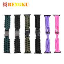 Adjustable Outdoors Paracord Survival Multi Functional Bracelet Watch