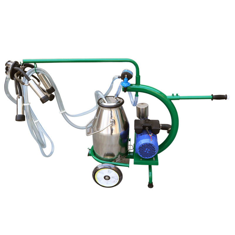Dry Type Pump Milking Machine with Single Buckets for Dairy Farm