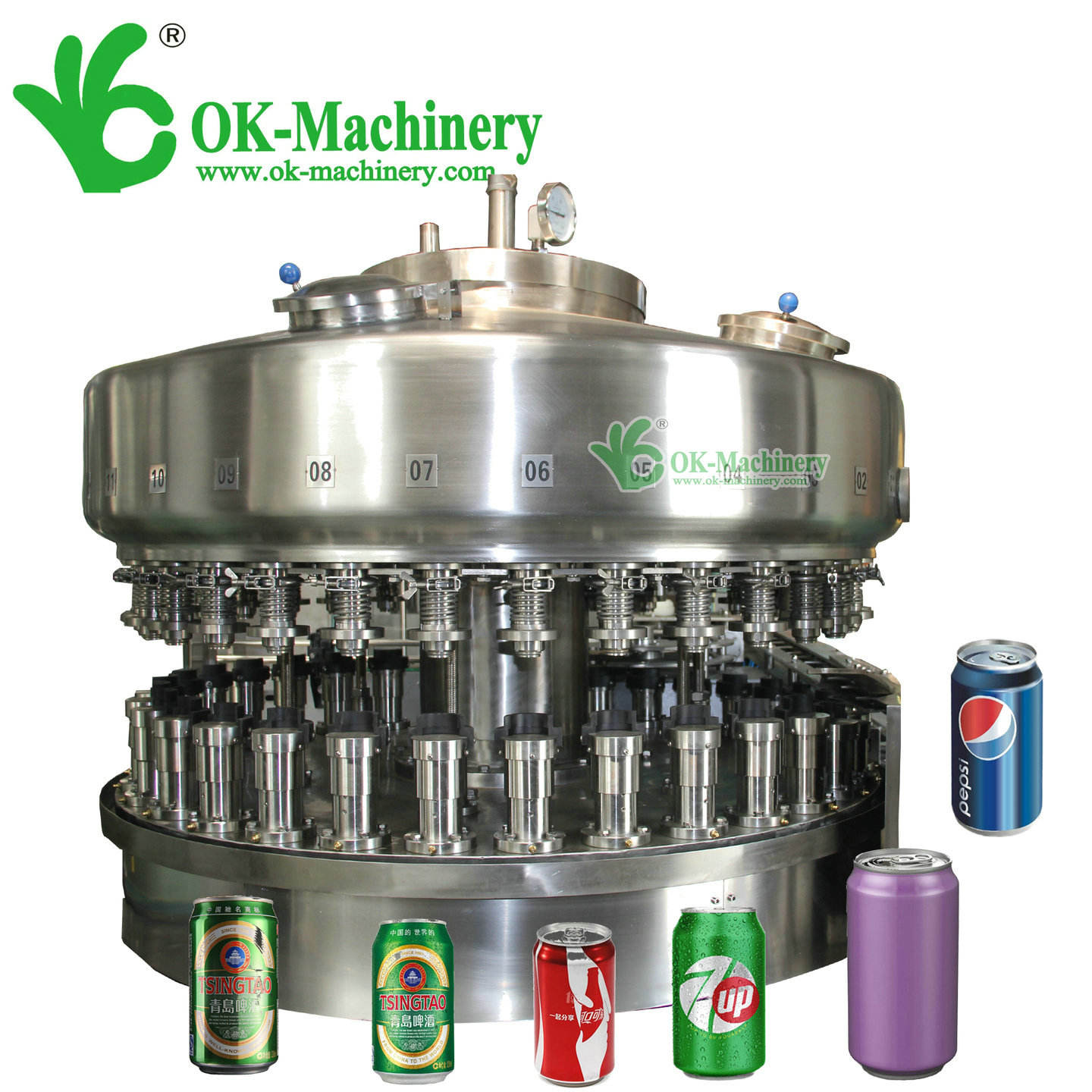 OKC-08 aluminum can filling machine/metal can filling machine (pp)
