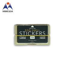 Custom Wholesale Waterproof Removable Sticker on Egg Shell