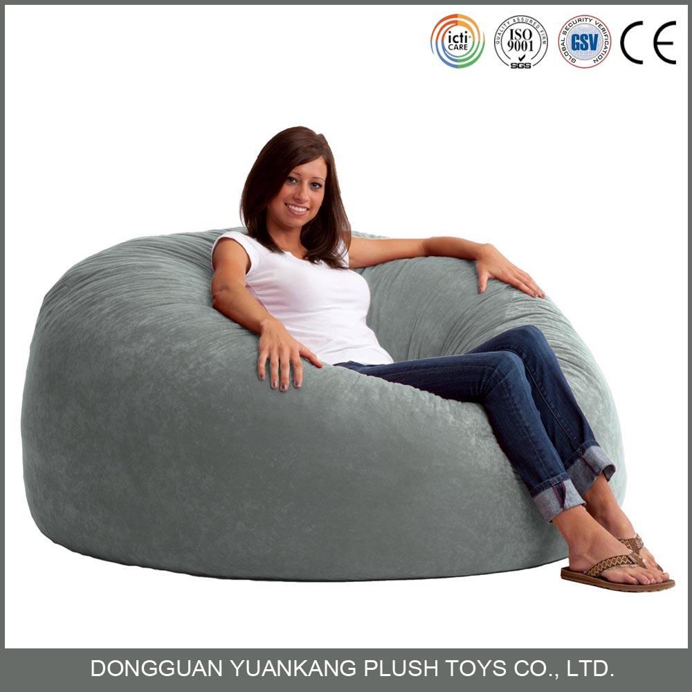 Benutzerdefinierte OEM gemütliche weiche Plüsch Sitzsack Stühle Großhandel