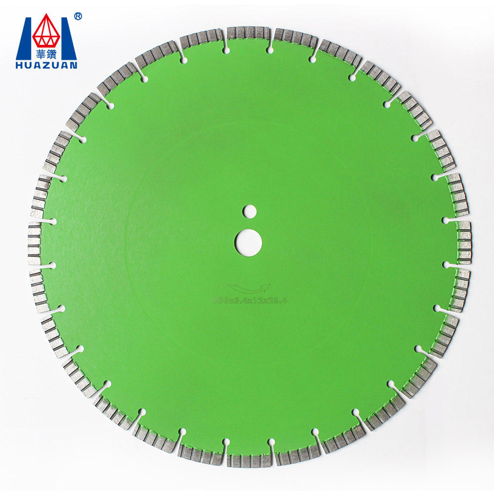 400mm laser welded turbo segmented diamond saw blade for cutting reinforced concete