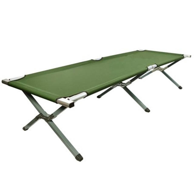 Green Foldable Camping Bed Portable Military Cot Hiking Travel With Carrying Bag Sold