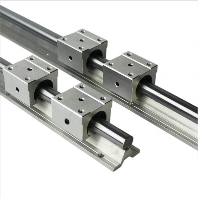 2PCS SBR10/12/16 16mm Linear Guide Rail Length 300-1500mm Fully Supported 4PCS SBR16UU Linear Bearing Block CNC parts