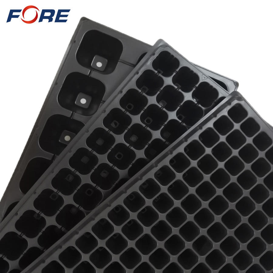 4 6 12 24 50 72 98 105 128 200 288 Cells PS Plastic Plug Seed Starting Grow Germination Tray for Greenhouse Vegetables Nursery
