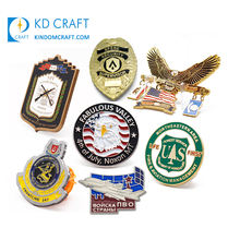 Manufacturer in china custom design your own metal embossed 3D enamel military badge for souvenir