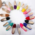 Size 35-43 custom made shoes women flat fashion ladies suede casual shoes